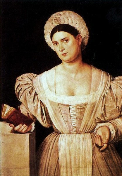 8 1525 Bernardino Licinio (1489-1565) Woman with book