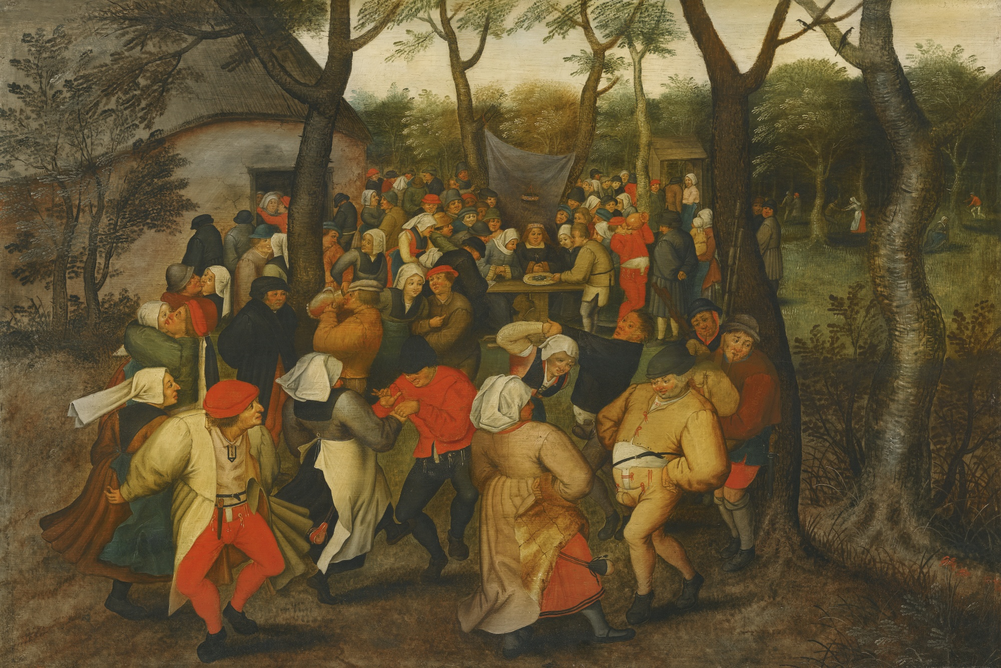 PIETER BRUEGHEL THE YOUNGEr outside peasant dance